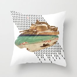 Beach Head Throw Pillow