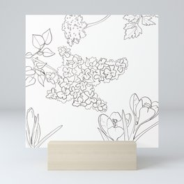 Flora of Fun - Color or Paint Your Own! Mini Art Print