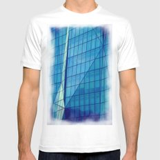 Windows #3 SMALL White Mens Fitted Tee