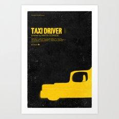 TAXI DRIVER Art Print