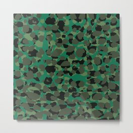 Emerald Leopard Spots Metal Print