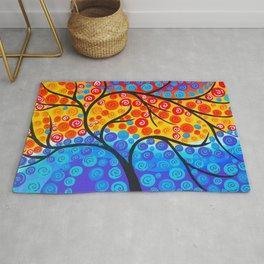 Tree of Life Rainbow Rug
