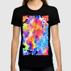 Summer Garden X-LARGE Black Womens Fitted Tee