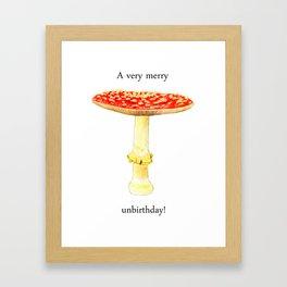 A very merry unbirthday! Framed Art Print