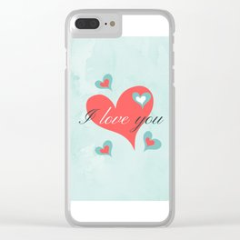 Saint Valentine's Day (I love you) Clear iPhone Case