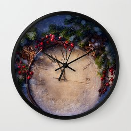 Frozen time winter wonderland Wall Clock