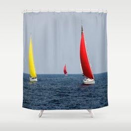 Fun Sail Three Shower Curtain