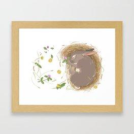 Night-night Bunny Framed Art Print