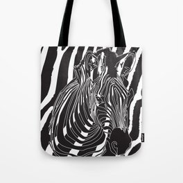 Zebra - Optical Art 5 Tote Bag