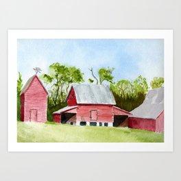 Outbuildigs - Smithfied,VA Art Print