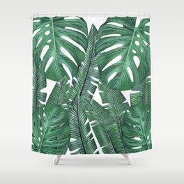 Tropical Leaves Art Print Shower Curtain