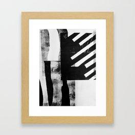 Monotype I Framed Art Print