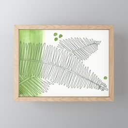 Fern Wash Framed Mini Art Print