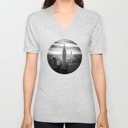 New york city black white 2 Unisex V-Neck
