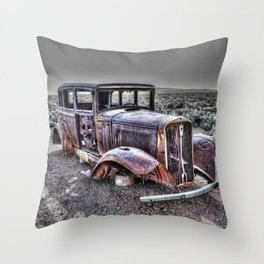 Rusting in the desert Throw Pillow