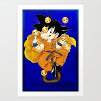 goku Art Prints featuring Goku by Ana del Valle Store