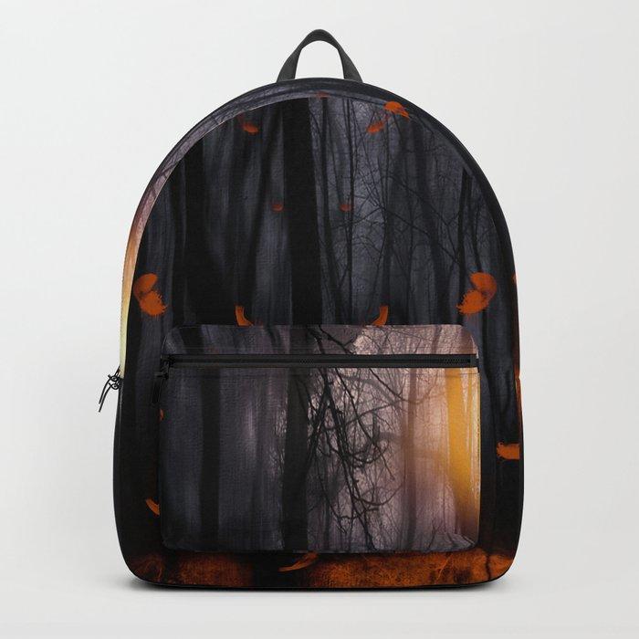 Feather dance (orange) Backpack