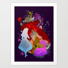 Alice and Her Hearts  Art Print