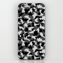 Camouflage Digital Black and White iPhone Skin