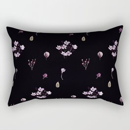 Little bouquets in black Rectangular Pillow
