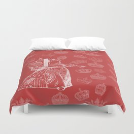 Queen of Hearts and Crowns Duvet Cover