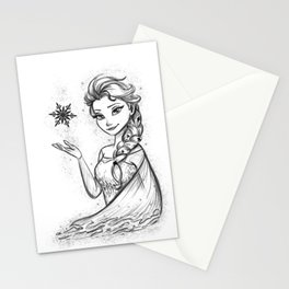 The Snow Queen Black And White Stationery Cards