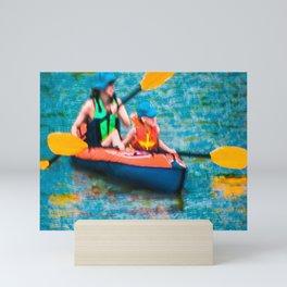 Kayak -Impressionistic Mini Art Print