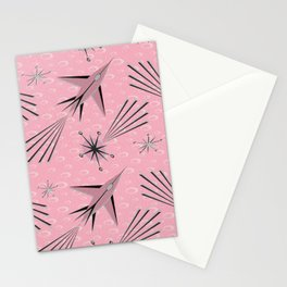 Space Planes & Shooting Stars - Pink Stationery Cards