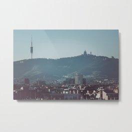Barcelona from Montjuic Metal Print