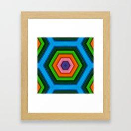 Colored hexagon - hexagono colorido Framed Art Print