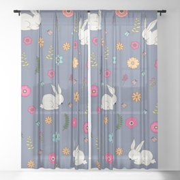 Easter bunny Sheer Curtain