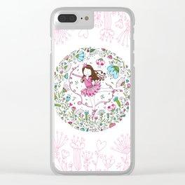 Sweet Ballerina Clear iPhone Case