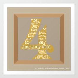 Mr.and Mrs. Dursley Quote Art Print