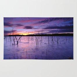 Purple waters Rug