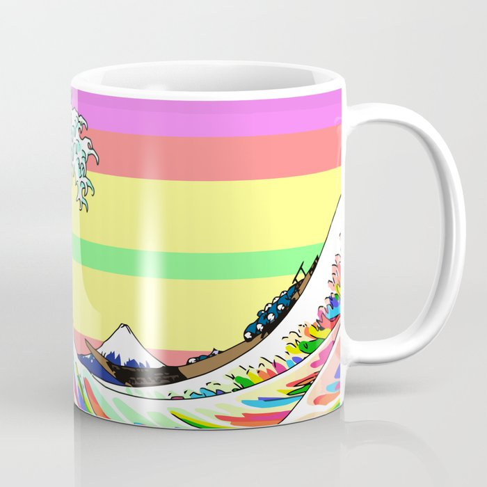 The Great Wave Off Kanagawa Colorful Coffee Mug
