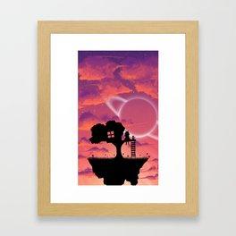 Space Tree House Island Framed Art Print