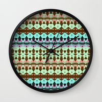 oasis Wall Clocks featuring Oasis by Ornaart