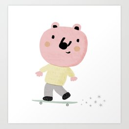 Bear Skater Art Print
