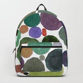 Green dots heart Backpack