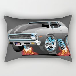 Classic American Muscle Car Hot Rod Cartoon Rectangular Pillow