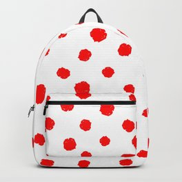 Hand-Drawn Dots (Red & White Pattern) Backpack