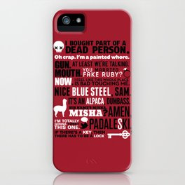 Supernatural - The French Mistake Quotes iPhone Case