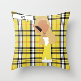 clueless hunny Throw Pillow