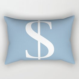 dollar sign on placid blue color background Rectangular Pillow