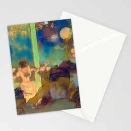 "Edgar Degas ""Mademoiselle Bécat at the Café des Ambassadeurs"" Stationery Cards"