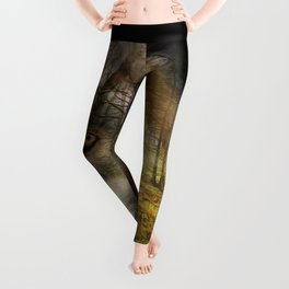 Wolf in the Forrest Leggings