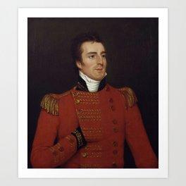 Duke of Wellington as a Major General - Arthur Wellesley Portrait - 1804 Art Print