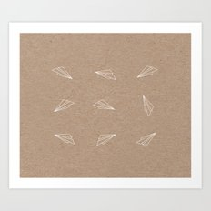 all over the planes Art Print