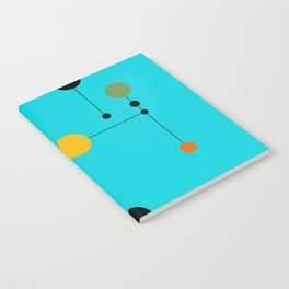 Dot line Dot in Aqua Notebook