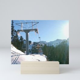 Mountains transport Mini Art Print